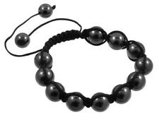 Shamballa Beaded Bracelet - Black and Dark Gray