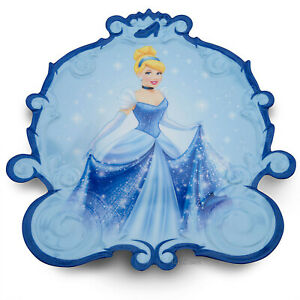 Disney Store Princess Cinderella Blue Child Dinner Plate Mealtime Magic NEW