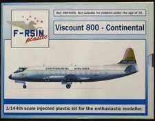 F-RSIN Models 1/144 VICKERS VISCOUNT 800 Continental Airlines