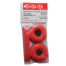 Sennheiser HD-25 Replacement Ear Pads Velour Red Pair Zomo HD-25SP