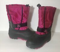 KAMIK Women's Pink Magenta And Black Duck Winter Snow Boots Size 5