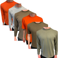 Hanes USA Mens Long / Short Sleeve 'Heavy T' Shirts 100% Cotton~Quality~upto XXL