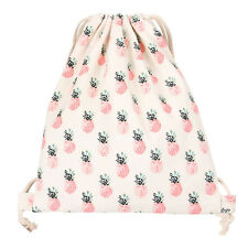 Cotton Travelling Drawstring Storage Bag Shoe Bag Backpack Pineapple