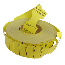 Metal Detectable Keyhole Tags Yellow 50x279mm Roll 500
