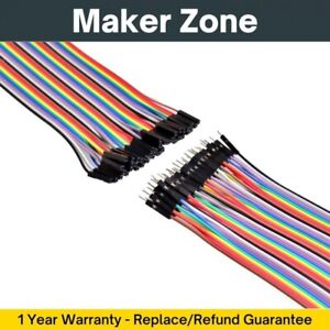 Hookup Wires 10cm 20cm 30cm M-M F-F M-F Arduino Breadboard Dupont Jumper Cables