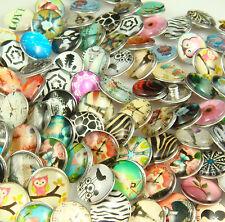 Nice 5pcs  Metal Chunks Snap Button DIY Chunks For Leather Bracelet  3bSn