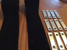 TRIUMPH VITESSE / HERALD CONVERTABLE  HOOD WEBBING BLACK X 2 +12 SECURING PLATES