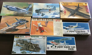 VINTAGE AIRPLANE MODEL LOT! MILITARY-PRIVATE-RACING!! STILL SEALED!