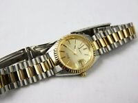 Vintage Swiss Watch Belair Quartz Wendels Womens Gold Silver Tone 7 Jewels New