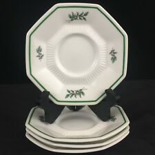 NEW Set of 4 Saucer Plates Nikko Christmastime Christmas Tree Made in Japan