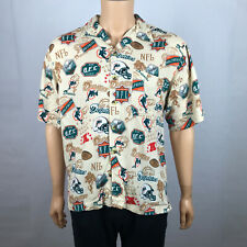 Miami Dolphins Football NFL All Over Print Button Up Camp Hawaiian Shirt Mens M