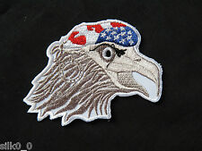 ECUSSON Brodé - PATCH Thermocollant - AIGLE / 9x8cm / EAGLE USA / AMERICA / ARMY