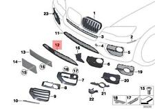 FOG LIGHT TRIM COVER SILVER LEFT N//S 7312595 BMW NEW GENUINE X6 E71 FROM 12.04