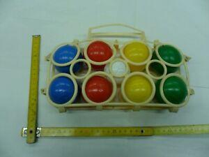 gioco delle BOCCE in plastica soffiata VINTAGE anni 70 made in ITALY primavera