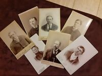 7 Vintage 1890's Cabinet Photos KNUDSEN Family from MISSOULA Montana Men Women