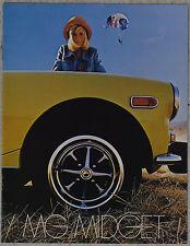MG Midget January 1974 fold out brochure showroom fresh