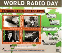 Liberia 2013 MNH World Radio Day Famous Broadcasts 4v M/S Churchill JFK Stamps