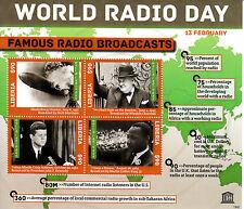 Liberia 2013 MNH WORLD RADIO giorno famoso trasmissioni 4V M / S Churchill JFK STAMPS