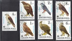 Hungary 1983 Protected Birds of Prey Eagles Falcons CNH Set SC # 2797-2803