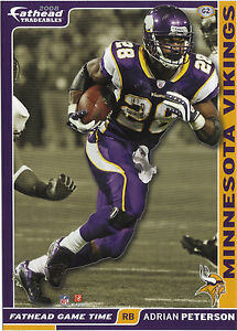 ADRIAN PETERSON FATHEAD TRADEABLES 2008 OKLAHOMA SOONERS REMOVEABLE STICKER G2