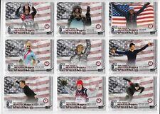"""2018 TOPPS OLYMPICS PRIDE COUNTRY (27) CARD FULL """"FLAG"""" /99 SET ~ CHLOE KIM VONN"""