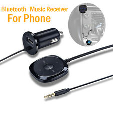Bluetooth Audio Music Receiver 3.5mm Car AUX Speaker Mic Handsfree Adapter 2018