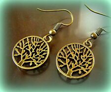 TREE of LIFE JEWELRY EARRINGS Genealogy Family Tree --Vintage ArtDeco style