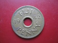 Fiji 1942 King George VI One 1 Penny coin in good grade