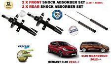 pour Renault Clio + GRANDTOUR 2012- > 2 x AVANT + 2 x amortisseurs arrières set