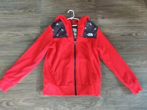The North Face Boys Red Zip Up Hoodie NWT Size Medium 10/12