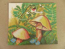 Vintage Frog & Toadstool Card Post Card Note Card