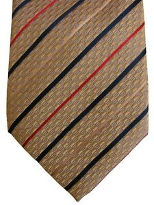 CANALI Mens Tie Gold - Red & Blue Stripes
