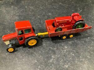 Matchbox Moko Lesney Massey Ferguson 165 Tractor & Trailer & McCormack Tractor