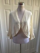 NWT Lane Bryant Ivory Ruffle Cuff Bolero Shrug Sweater Plus 26/28