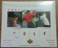 2001 Upper Deck Golf Factory Sealed Box 24 Packs per box 5 cards per pack