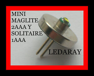 BOMBILLA MAGLITE LED, PARA LINTERNAS MINI MAGLITE 2AAA Y SOLITAIRE 1AAA.(50 LM)