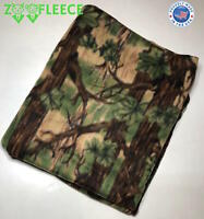 ZooFleece Green Camouflage Hunting Camo Hunting Winter Blanket Throw 60X68""
