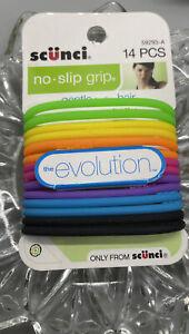 Scunci No Slip Grip Hair Tie , 14 Ct Neon The Evealotion