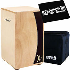 Schlagwerk CP 550 Cajon Agile Base Natur + Sitzpad + Gig Bag Tasche