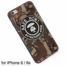 A Bathing Ape Bape Aape Brown Camo Hard Cover Silicone Case iPhone 6 / 6s