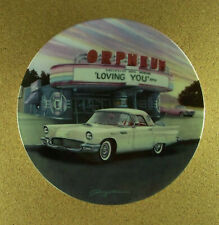 """""""1957 WHITE T-BIRD"""" Fabulous Cars of the Fifties Plate #2 Car George Angelini"""