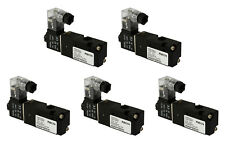 "5x 12V DC Solenoid Air Pneumatic Control Valve 3 Port 3 Way 2 Position 1/8"" NPT"