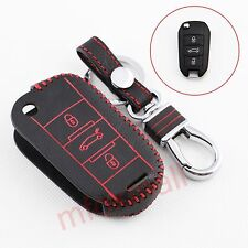 Leather Key Bag Holder Case Chain Cover For Peugeot 301 308 2008 3008 508 Parts