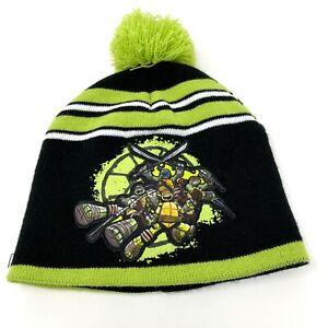 Ski Cap Teenage Mutant Ninja Turtle Black Kids Green