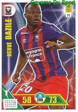 071 HERVE BAZILE HAITI SM.CAEN CARTE CARD ADRENALYN LIGUE 1 2018 PANINI