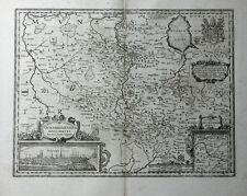 NIEDERSACHSEN OSNABRÜCK DETAILANSICHT JANSSONIUS KUPFERSTICHKARTE WAPPEN 1658