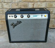 Fender Champ Amplifier Silver Face Vintage 70's tube Guitar Amp Tested Works EUC