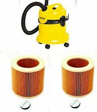TWO Pleated CARTRIDGE FILTERS for KARCHER Vacuum Cleaner Hoover Wet Dry