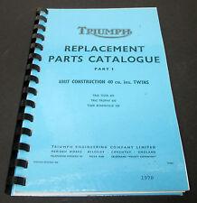 Replacement Parts Catalog manual mini book list spares 1970 Triumph 650 Twins