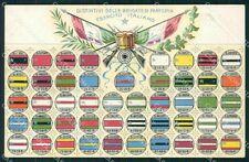Militari Esercito Arma di Fanteria Brigate Distintivi cartolina XF0432